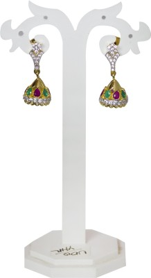 Jewelgrab Sai Ad Ruby Emr Alloy Jhumki Earring