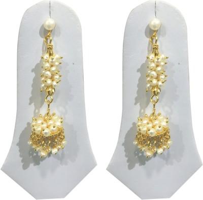 Sri Kapi Pearls FE139 Pearl Alloy Dangle Earring