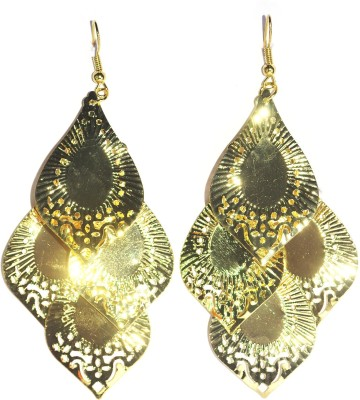 Royal Touch Golden Leafs Funky College Collection Metal Tassel Earring