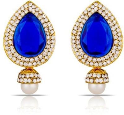 Luxor Ethnic Blue Designer Alloy Drop Earring
