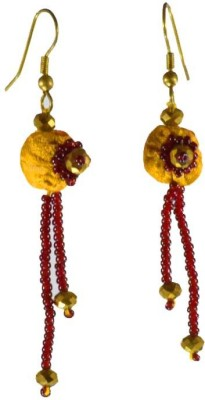 Ba No Batwo potali Fabric Dangle Earring