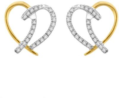 Sparkles T5575D Yellow Gold 18kt Diamond Stud Earring
