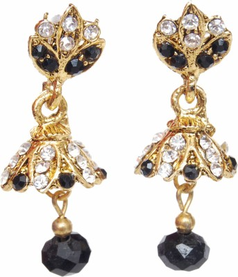 NM Products Black Alloy Jhumki Earring