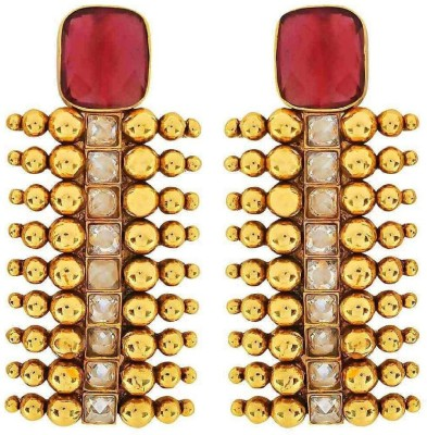 the jewelbox Antique Temple Crystal Copper Stud Earring