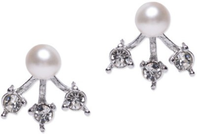 femnmas Three Stone Earjacket Alloy Stud Earring