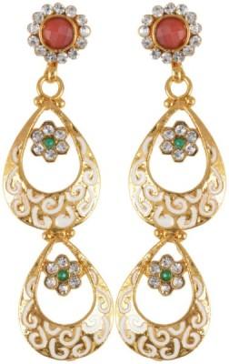Waama Jewels Golden Brass Earring fashion best of all Womens jewellery Metal Earring Set