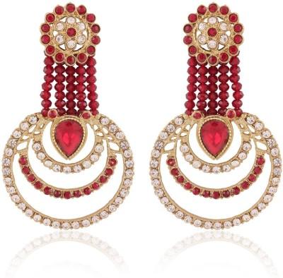 I Jewels Traditional Alloy Chandbali Earring