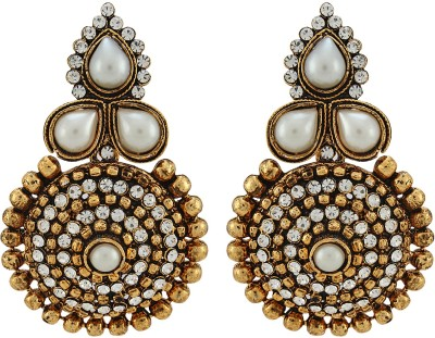 Asmara Antique Designer Pearl And Stone Alloy Drop Earring