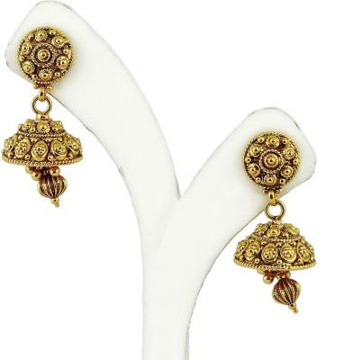 Maalyaa Kundan Brass, Copper Jhumki Earring