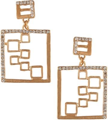 Fashionaya Maze Link Cubic Zirconia Alloy Drop Earring