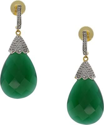 Hyderabad Jewels Beautiful Zircon Silver Drop Earring