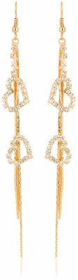 Moedbuille Golden Insignia [MBER00611] Cubic Zirconia Alloy Drop Earring