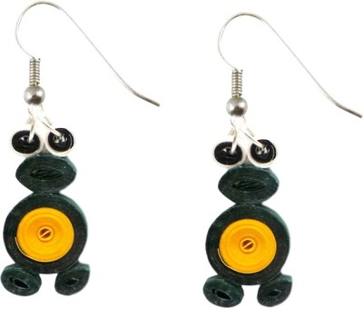 Charvee Miss Frog Quilling Paper Dangle Earring