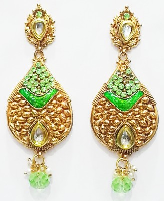 Labdhi Rajawadi Copper Drop Earring