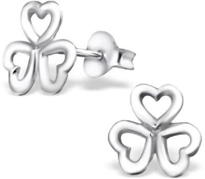 Maayin Triple Heart Flower Silver Stud Earring