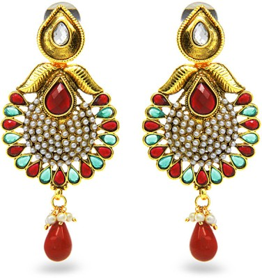 Aamoye Kundan Pota Earring in Gold Finish Alloy Drop Earring