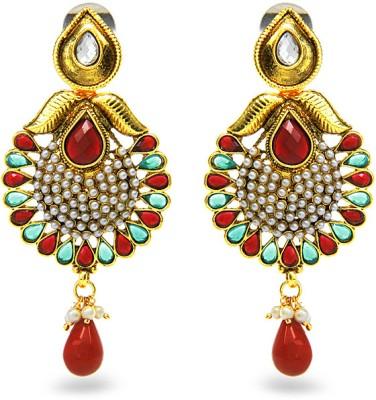 Aamoye Kundan Pota Earring in Gold Finish Alloy Drop Earring