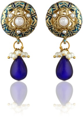 Zaveri Pearls Diamond Alloy Drop Earring