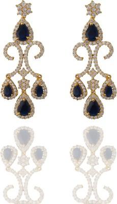 Chaahat Fashion Jewellery New Fancy Cubic Zirconia Copper Chandelier Earring