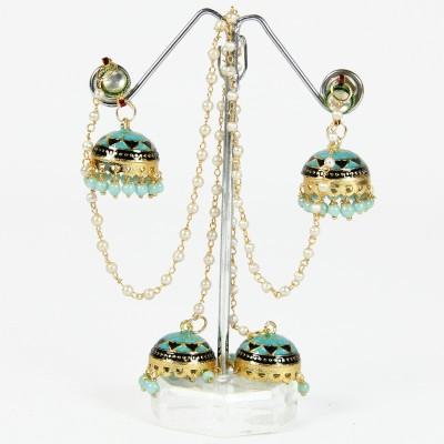 Artisan Blue Rani Tassel Earring Metal Tassel Earring