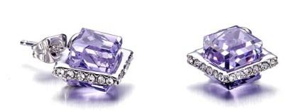 Nevi Cubes Swarovski Crystal Metal, Crystal Stud Earring
