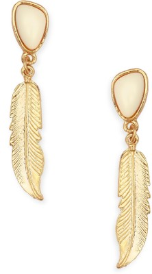20Dresses Feathers In Metal Drop Earring