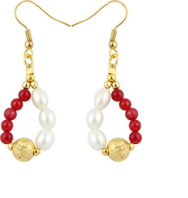 Pearlz Ocean Pleasing Pearl, Jade Alloy Dangle Earring