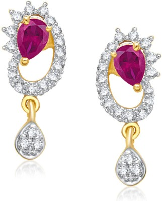 Meenaz Stylish Drop Colour Stone Gold & Rhodium Cubic Zirconia Alloy Drop Earring