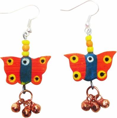 Juhi Malhotra Happy Butterflies Wood Drop Earring