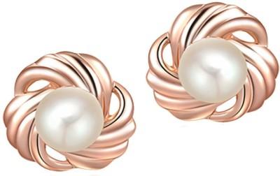 Womanwa Trendy Pearl Alloy Stud Earring