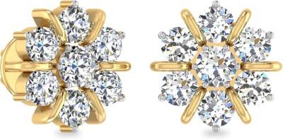 WearYourShine by PCJ The Kenisha Yellow Gold 18kt Diamond Stud Earring