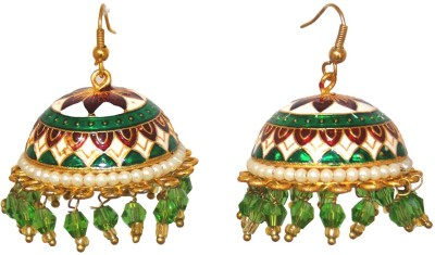 Red Gold Multi_32 Metal Jhumki Earring