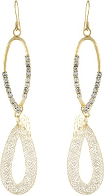 One Stop Fashion Stylish And Trendy Gold Colour Alloy Dangle Earring