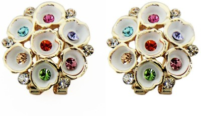 Sushito Multicolour Flower Alloy Stud Earring