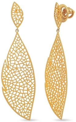 VelvetCase Jalee Leaf Earrings Silver Stud Earring