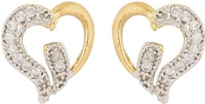Voylla Precious Love Glossy Cubic Zirconia Sterling Silver Stud Earring