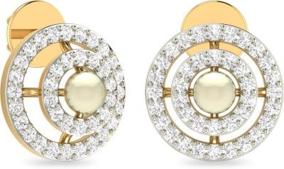 WearYourShine by PC Jewellers PC Jeweller The Falinne Yellow Gold 18kt Diamond Stud Earring at flipkart
