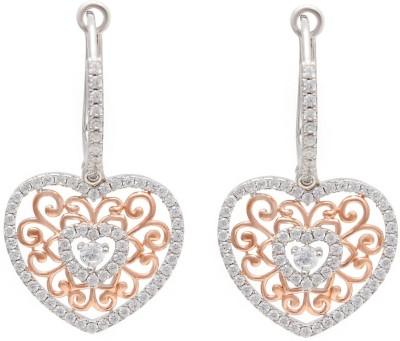 Ijuels Love Forever Diamonds Look Alike Cubic Zirconia Sterling Silver Drop Earring