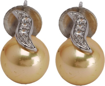 Maisha Gold Ball with Silver Alloy Stud Earring