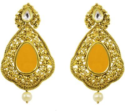Jewelskaro Dangler Antique Designer Fashion jewelry Designs Gold Plated Copper Dangle Earring