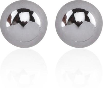 Kalaplanet Gunblack Pearl Decorated Simple Design Alloy Stud Earring