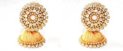 Craftworks gold jimuka Silk Dori Jhumki Earring