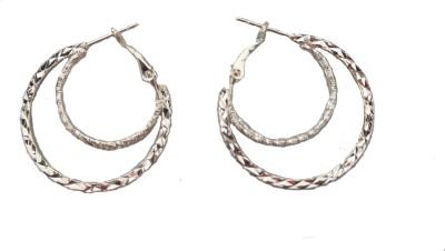 MH Simple Crystal Plastic Hoop Earring