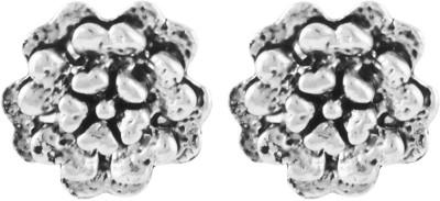 Shining Jewel Gothic Rose Brass Stud Earring