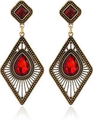 Insia Prisma Rouge Alloy Drop Earring