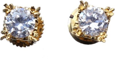 Asset Jewels Prince Solitaire Brass Stud Earring