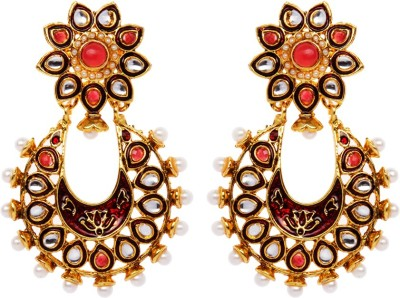 Rays 843407151 Pearl, Crystal Copper, Zinc Drop Earring