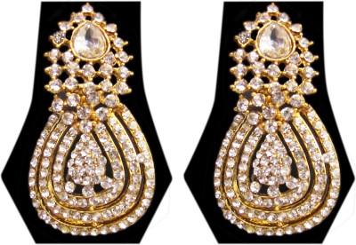 Triumphin Sparkle Crystal Zinc Chandbali Earring