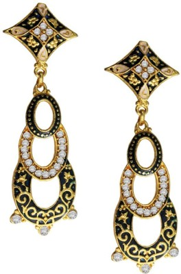 Beingwomen Elegant Gold Plated With Stone Studded Fashion Alloy Drop Earring
