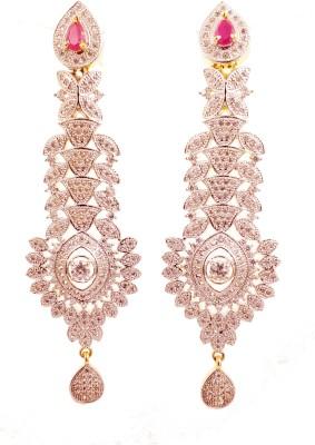 Ojas Jewels Dazzling Beauty Zircon Alloy Chandelier Earring